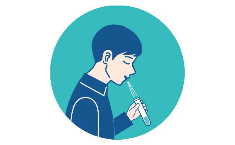 自宅で唾液を採取するタイプの郵送PCR検査